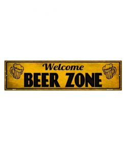 Welcome beer zone - metalen bord