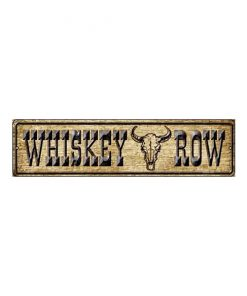 Whiskey row - metalen bord