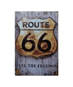 Route 66 feel the freedom - metalen bord