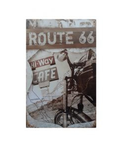 Route 66 hi-way cafe - metalen bord