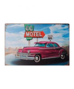 Route 66 motel - metalen bord