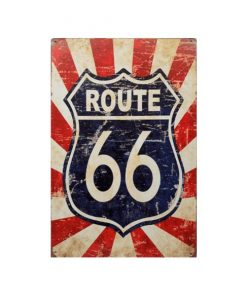 Route 66 red stripes - metalen bord