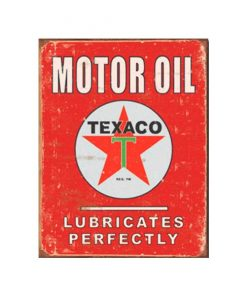 Texaco motor oil rood - metalen bord