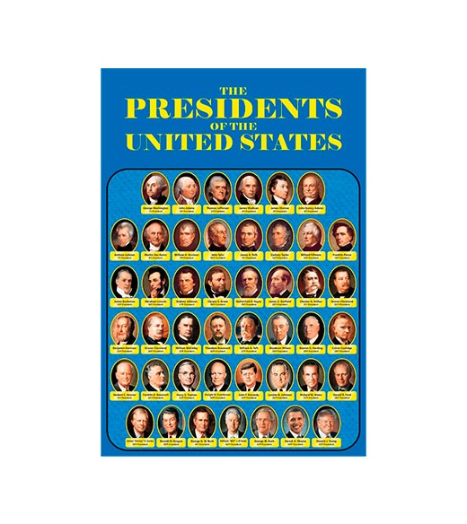 The presidents of the United States - metalen bord