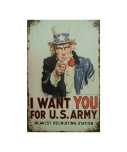 You for USA Army - metalen bord