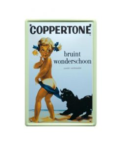 Coppertone bruint wonderschoon - metalen bord