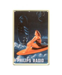 Philips radio wolken - metalen bord