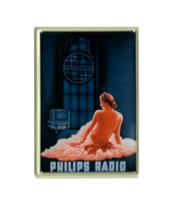 Philips radio - metalen bord