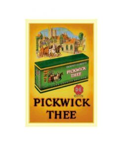Pickwick thee doosje - metalen bord