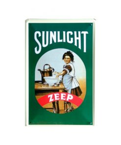 Sunlight zeep - metalen bord