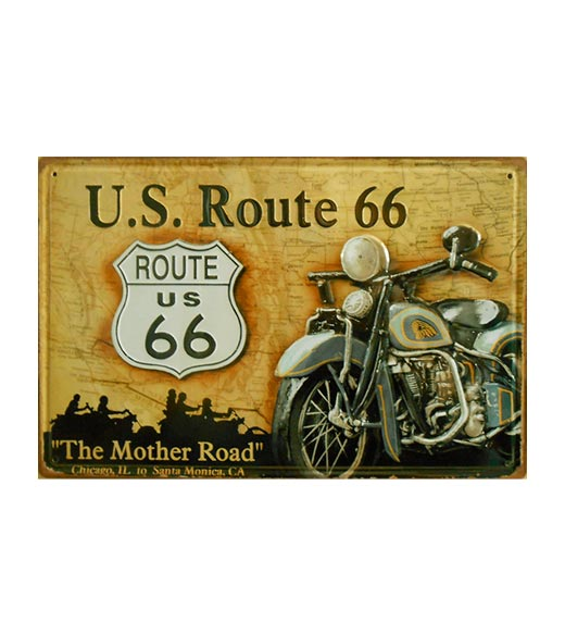 The Mother Road Route US 66 - metalen bord