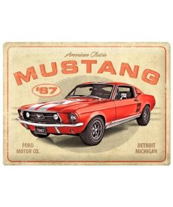 Ford mustang gt 67, Detroit - metalen bord