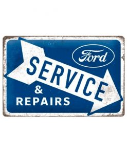 Ford service & repair blauw - metalen bord