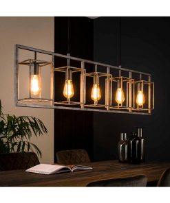 Cantwell 5-lichts hanglamp industrieel