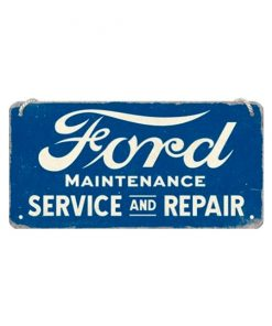 Ford service & repair 10cm x 20cm- metalen bord