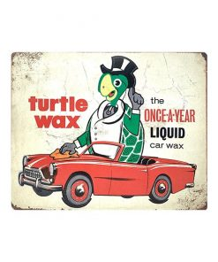Turtle wax - metalen bord