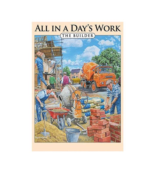All in a Day's Work The Builder - metalen bord