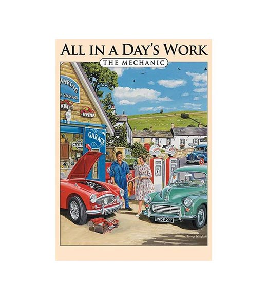 All in a Day's Work The Mechanic - metalen bord