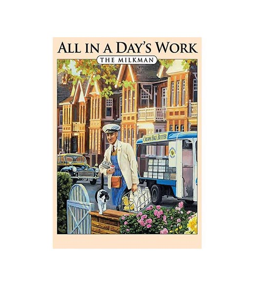 All in a Day's Work The Milkman - metalen bord