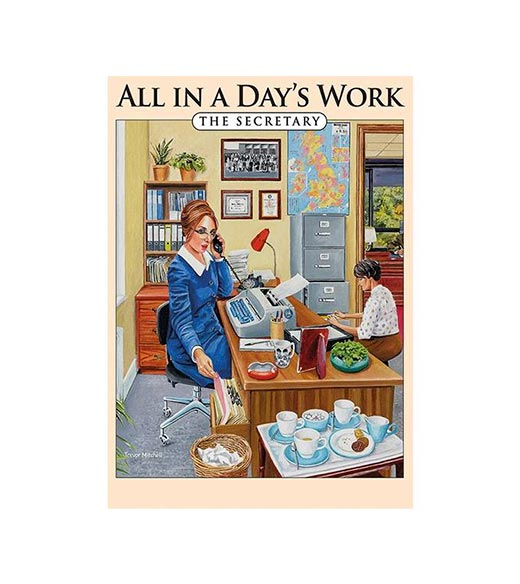 All in a Day's Work The Secretary - metalen bord