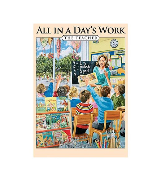 All in a Day's Work The Teacher - metalen bord