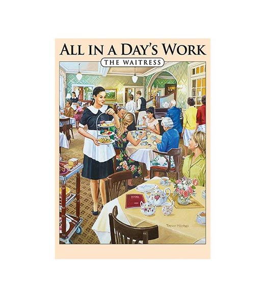 All in a Day's Work The Waitress - metalen bord
